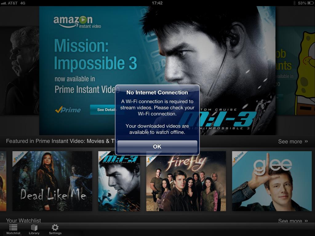 Amazon Releases iPad Instant Video App