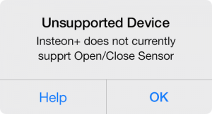 Insteon+ unsupported device