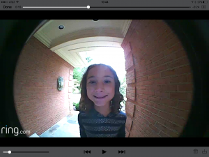 The doorbell's camera may catch the attention of visitors