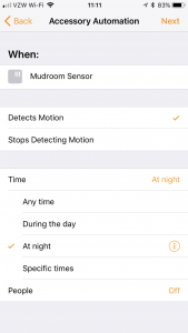 How to Turn Accessories in HomeKit off after an Automation is Triggered