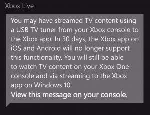 Xbox to Abandon Live OTA Streaming