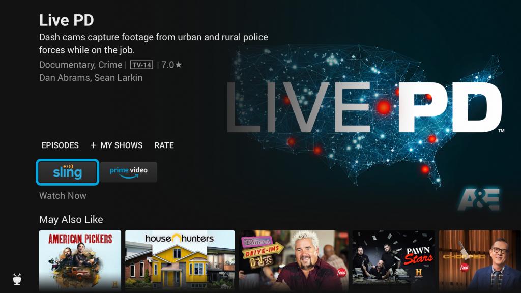 TV Series screen on TiVo Stream 4K