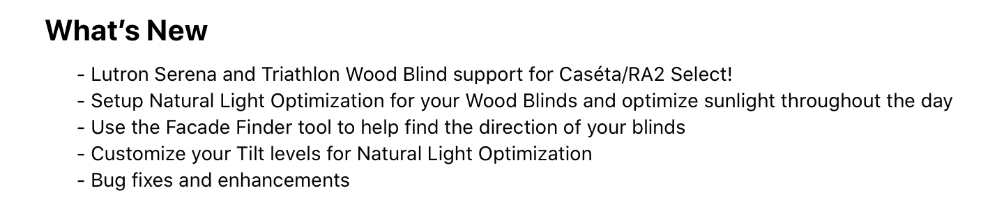 Recent Lutron App Update Foretells of New Blinds Support